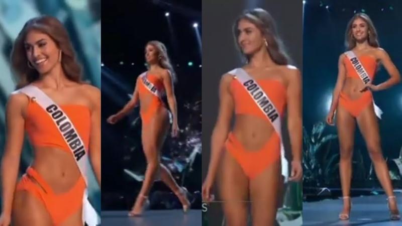 SORPRENDIÓ Miss Colombia Traje de baño PRELIMINAR 2018 Miss Universo Valeria Morales