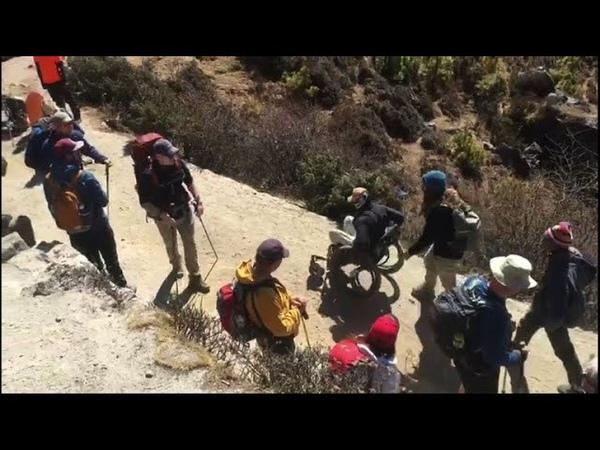 Australian paraplegic humbled by Everest base camp trek