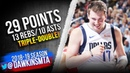 Luka Doncic Triple-Double 2019.03.18 Mavs vs Pelicans - 29-13-10! | FreeDawkins