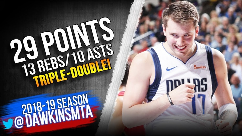 Luka Doncic Triple-Double 2019.03.18 Mavs vs Pelicans - 29-13-10! | FreeDawkins