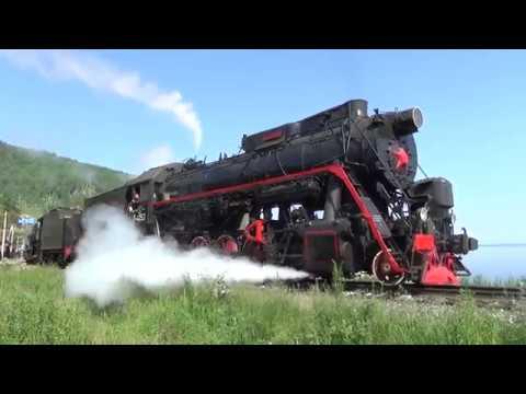 Красавец паровоз Л 4253 в составе с Л 3485 и пассажирскими вагонами