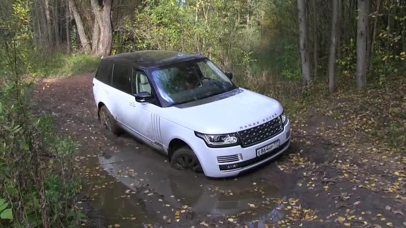 Range Rover Supercharged - полный OFFROAD! Ныряем в реку!