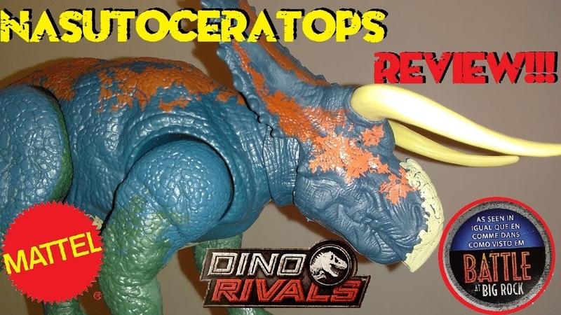 Mattel Battle at Big Rock Dino Rivals Dual Attack Nasutoceratops Review