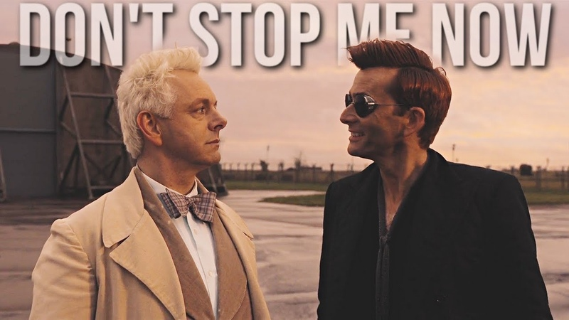 Crowley Aziraphale ][ Dont Stop Me Now || Good Omens