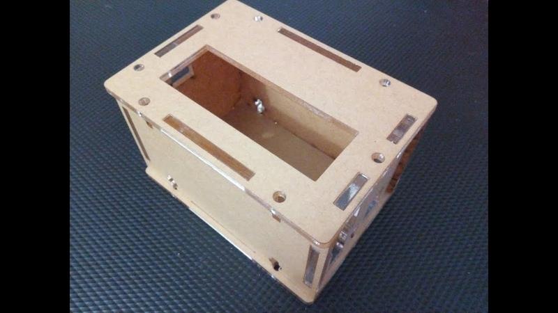 Проектировка. Изготовление корпуса из акрила на углеродном лазере.