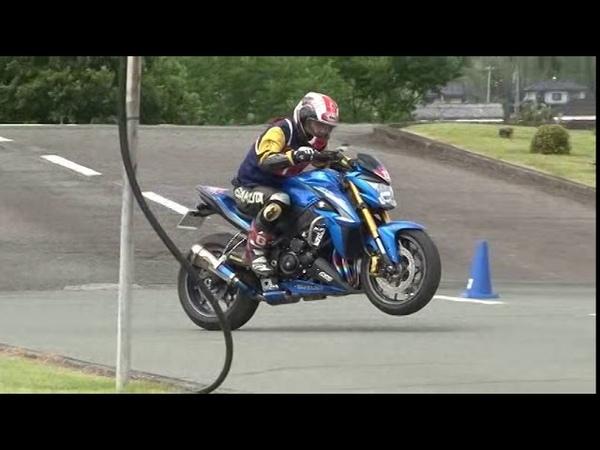 2018 6 17 MG 9 Dunlop Moto Gymkhana King of Gymkhana Sakuta 選手 GSX-S1000 VTR250