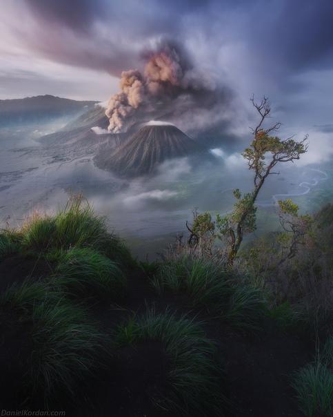 Извержение Бромо, Ява, Индонезия