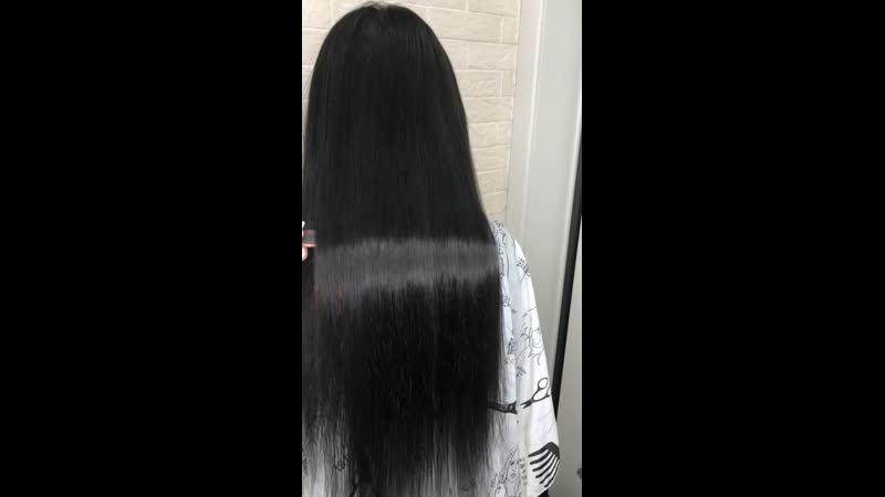 Наращивание волос 155 прядей