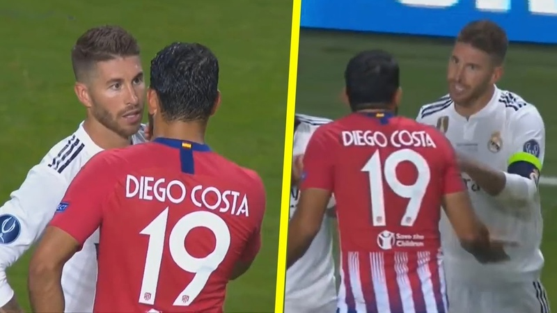 Sergio Ramos vs Diego Costa - All Fights Crazy Moments HD