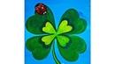ST Patrick's Day Shamrock Ladybug Beginner Acrylic Painting Full tutorial