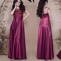 638006196ac Элегантное вечернее платье из королевского атласа с топом