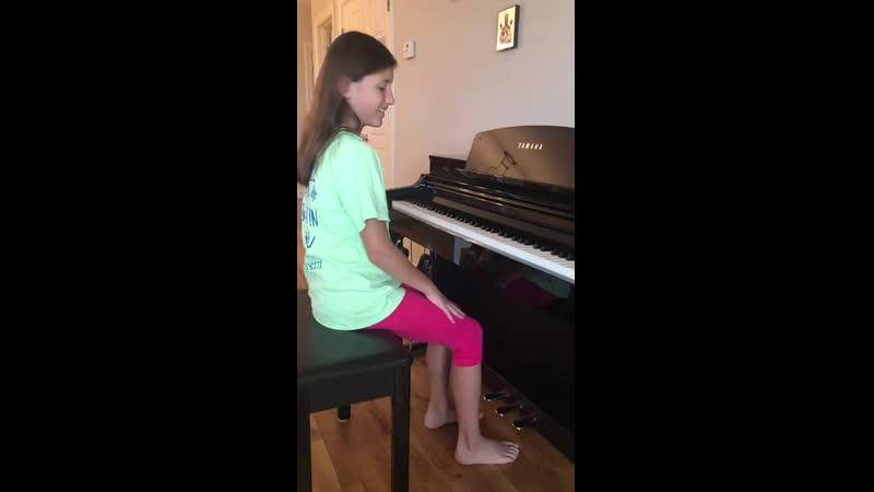 Играет моя маленькая ученица Натали Южная Каролина США Аннушка Чешская народная песня