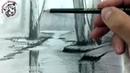 Como Dibujar un Rio a Lapiz Paso a Paso Tecnica de Dibujo a Lapiz