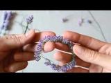 Лаванда из бисера. Часть 2. Lavender from beads