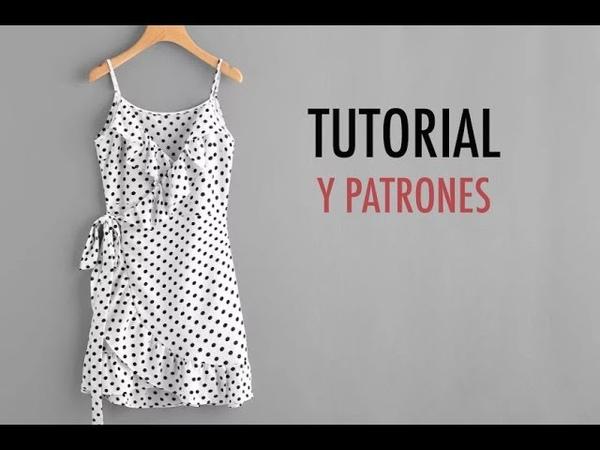 Aprender a coser vestido cruzado de mujer (patrones gratis)