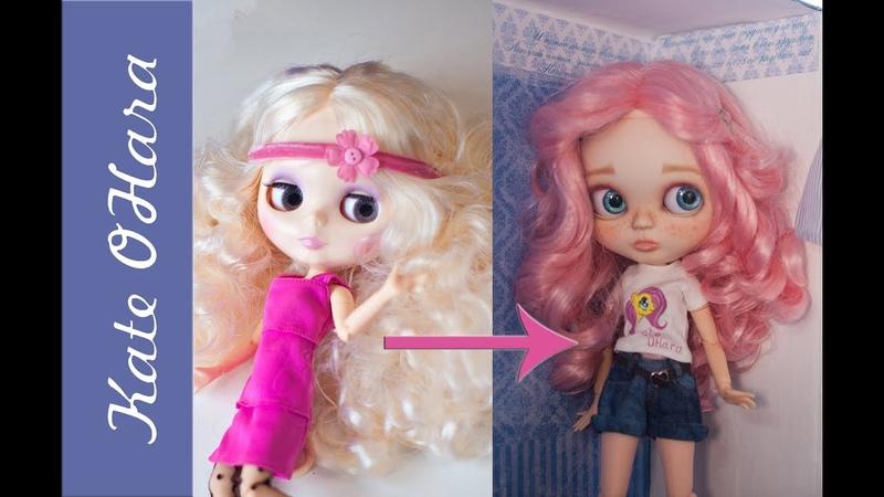 Как окрасить волосы кукле Blythe Мой опыт окрашивания синтетических кукольных волос