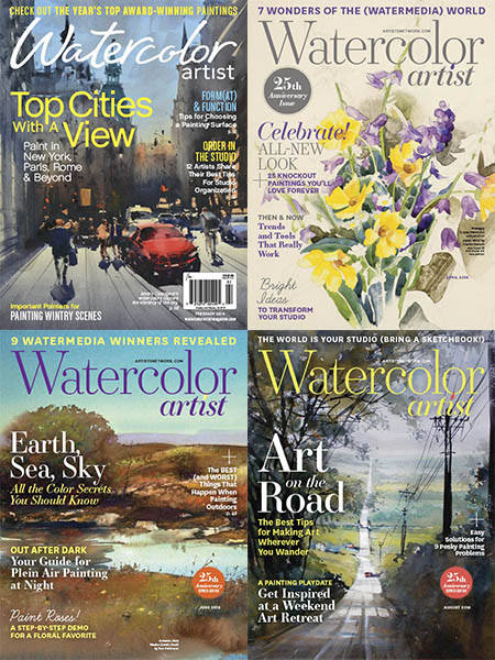 Watercolor Artist 2008 Full Year Collection (6 Issues)