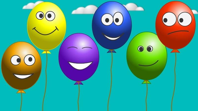 Лопаем разноцветные шарики Учим цвета для детей Воздушные шарики