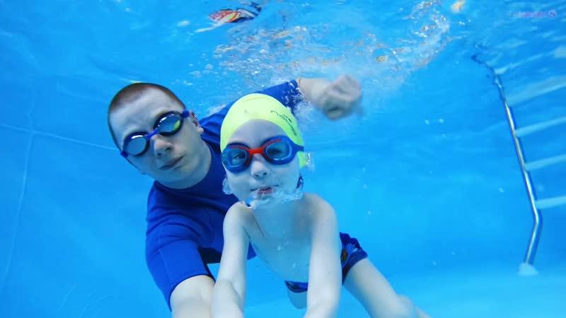 Детское плавание г Абинск Роман 3 года 2 мес