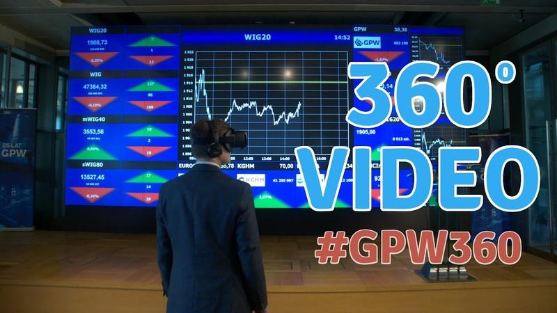 Giełda Papierów Wartościowych w Warszawie Wideo 360° 4K