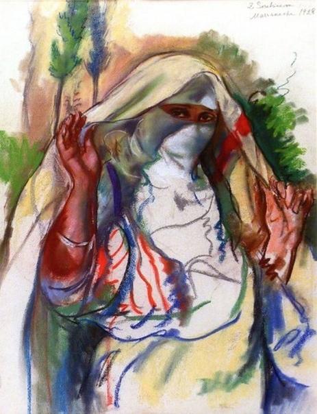 « одного шедевра». «Женщина, открывающая чадру», Зинаида Евгеньевна Серебрякова
