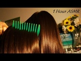 ASMR 1 Hour Night-Time Hair Brushing w. JUMBO Colorful Combs &amp Brushes, Scalp Scratching + Hairplay