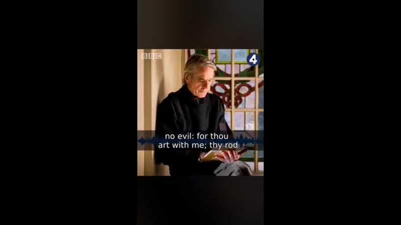 A preview of Jeremy Irons Reading The Psalms on BBC Radio 4
