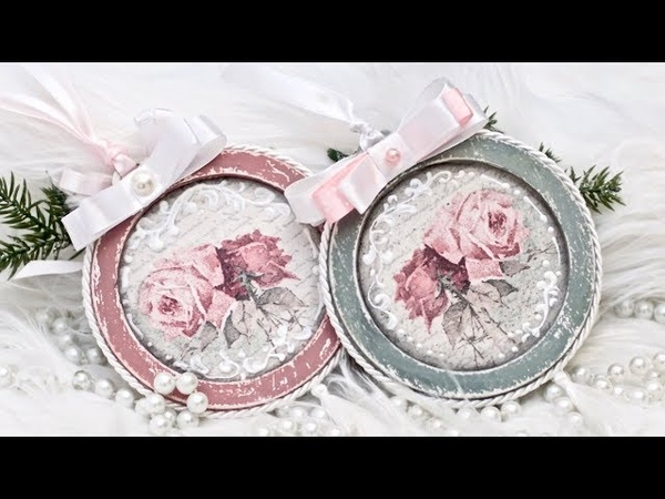 Bombka decoupage shabby chic - DIY tutorial