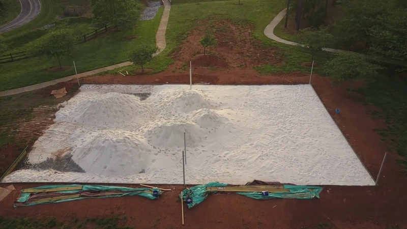 Volleyball Court Construction Process