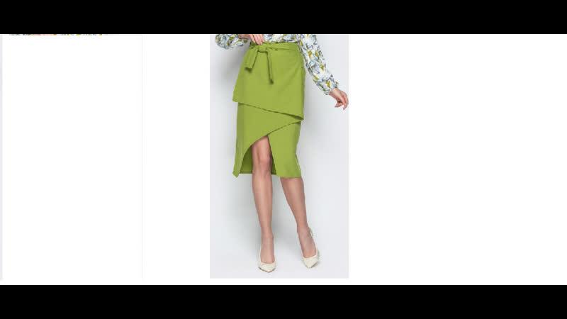 Асимметричная юбка со двойным запахом