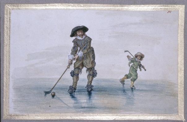 ИСТОРИЯ ХОККЕЯ С МЯЧОМ Игры на льду замерзших водоемов с различными шарообразными предметами, которыми при помощи «клюшек» надо было поразить определенную цель, известны в Европе со средних