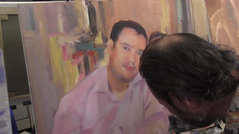 Портрет поверх фотопечати, семейный портрет