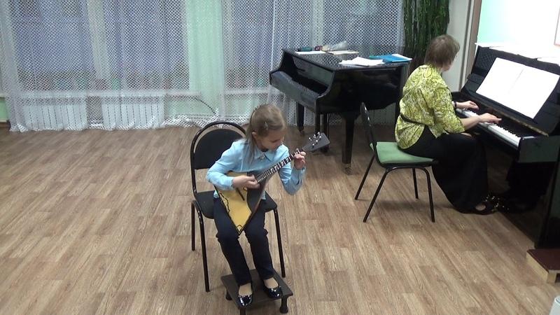 Настя Тюрина 8 лет Калинка Kalinka