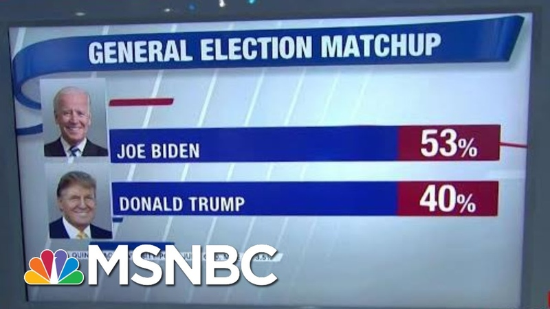 Poll Joe Biden Leads President Donald Trump By 13 Points Nationwide | Hardball | MSNBC usa Trump Biden English midterms politics international_relations