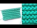 Узор из ажурных горизонтальных дорожек спицами / Простой узор / Knit pattern