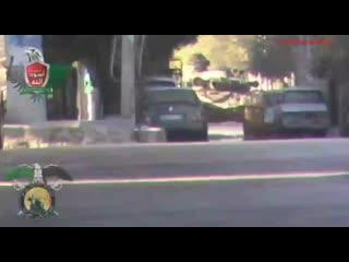 Сирия.2012 год.Дамаск.Поражение?Т-72 Республиканской Гвардии выстрелом из РПГ.