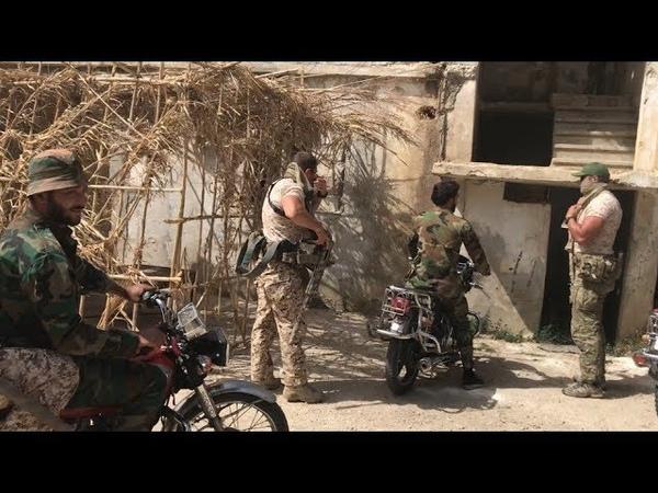 Russian specialists on Idlib Front in al Ghab Plain, Northwestern Hama province Syria
