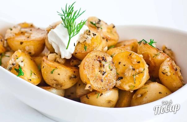 Жаренный картофель с чесноком: быстрый и вкусный рецепт