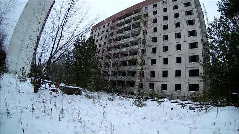 Припять Недостроенный дом ул.Леси Украинки, 54 Prypeć nieukończony budynek na ul. Lesi Ukrainki 54