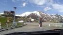 Красота гор Грузии около смотровой площадки за Крестовым перевалом, май 2019