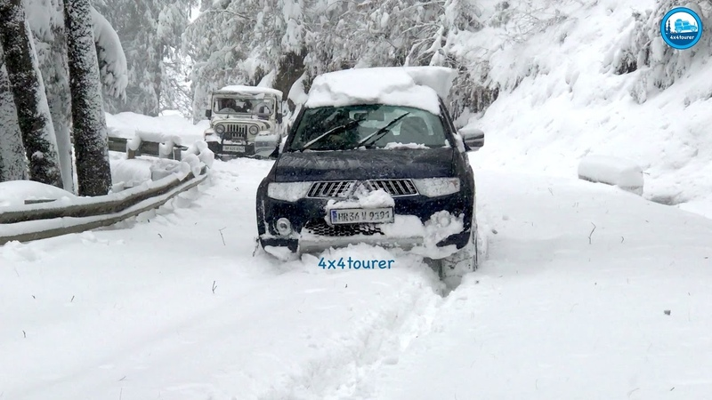 Snow Drive 2017 | Mitsubishi Pajero Sport | Extreme Off Road | Snow Chains | Himachal | India |