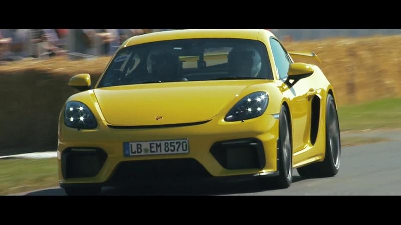 Porsche 718 Cayman GT4 at Goodwood Festival of Speed.