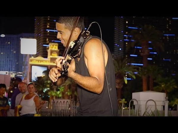 Amazing Live Dr. Dre The Next Episode Cover! (Marlon Dasoul DJ Violinist) In Las Vegas