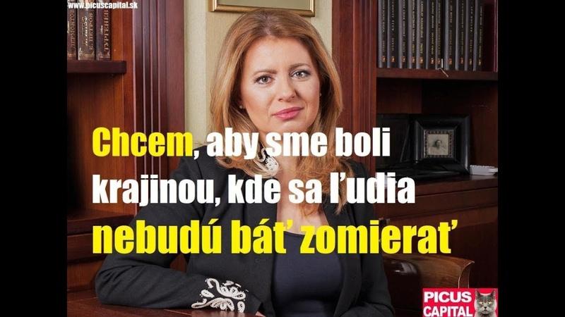 Chcem aby sme boli krajina kde sa ľudia nebudú báť zomierať - Zuzana Čaputová