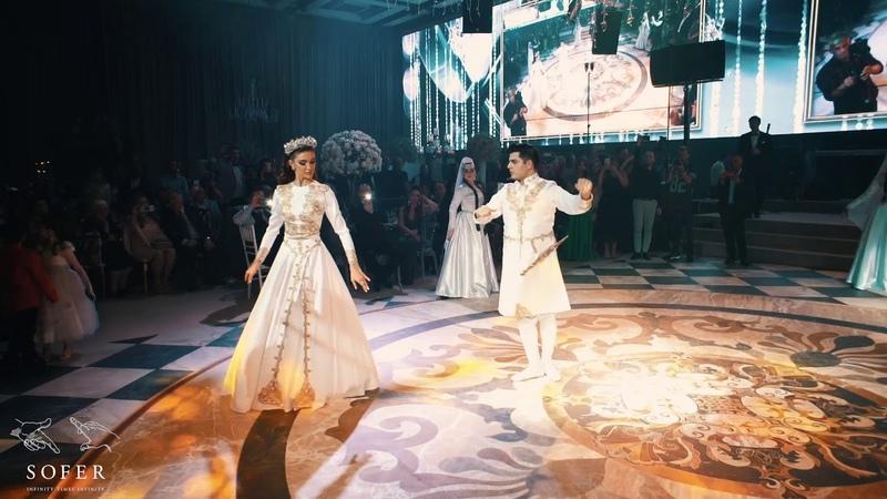 Michelle and Kobi Georgian wedding dance - Kartuli Davluri მიშელ და კობის ქორწილი ცეკვა