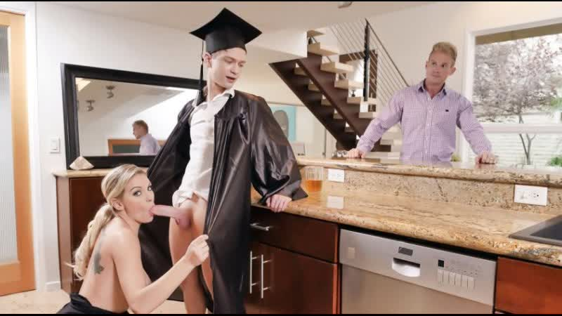 Family Strokes Kenzie Taylor Cap And Gown Dick Down ( HD, Blowjob, 2019, Incest, Mom son, Milf, Deep,