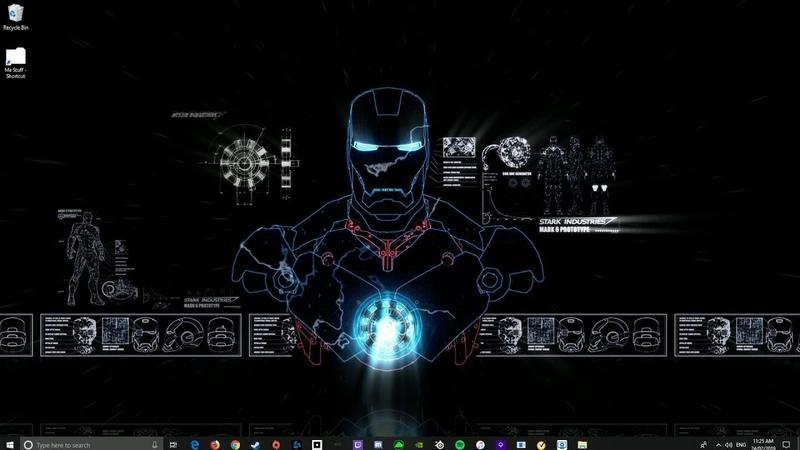 Iron Man Blueprints wallpaper engine