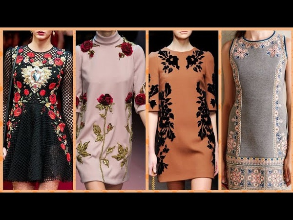 Dolacegabana million of fashion embroidery middi dress tunic dress for your perfect look this wintr