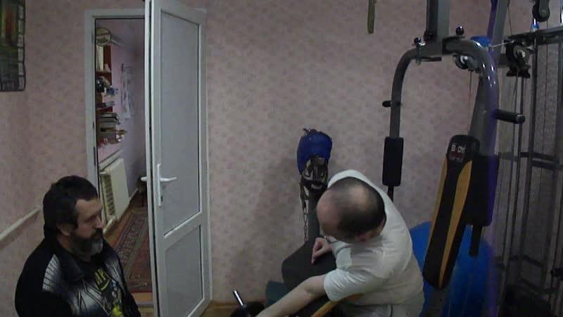 3 подход.Бицепс ЛР на парте.Дистрофия мышц рук.Борьба с неизлечимой болезньюпродолжается.Курс-6