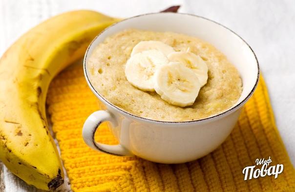 Банановый хлеб в кружке